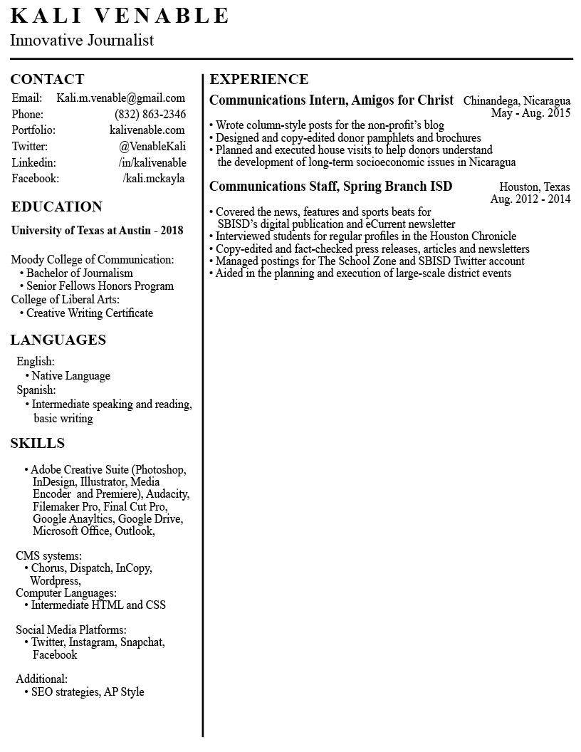 Venable_Resume_Sept20182